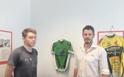 Mitch Davis with BMC Professional Cyclist Jesse Kerrison