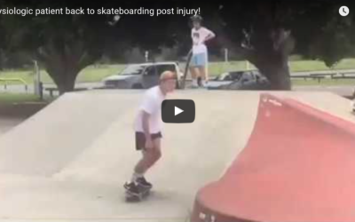 Physiologic patient back to skateboarding post ankle injury!